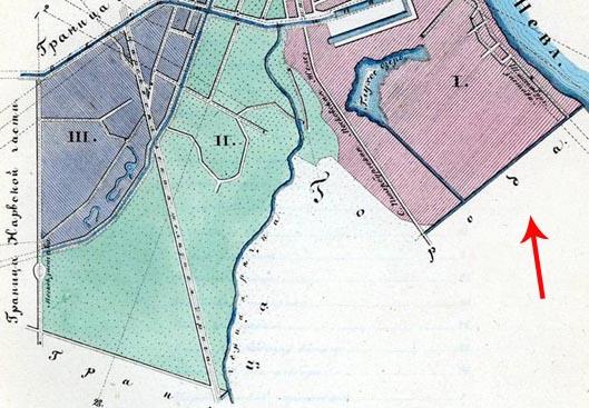 Фрагмент карты 1849 г.