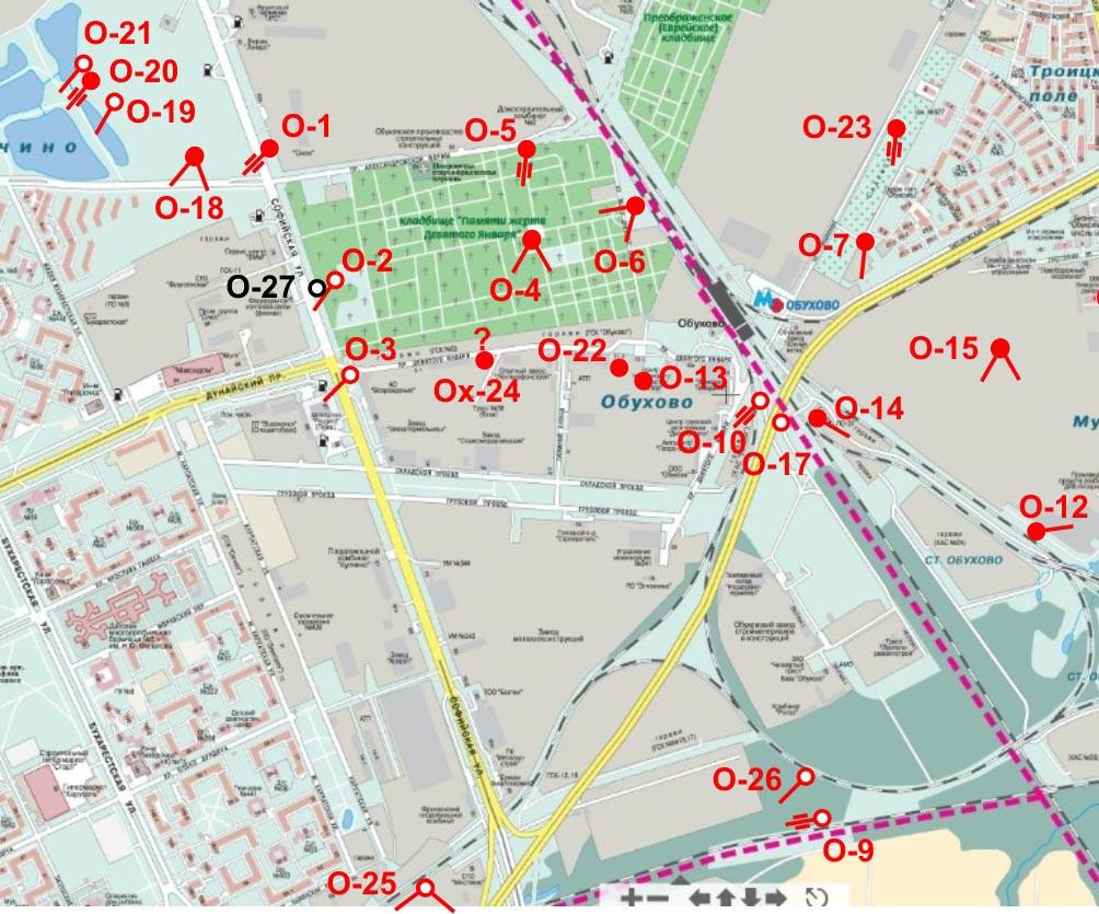 Схема всего района купчино
