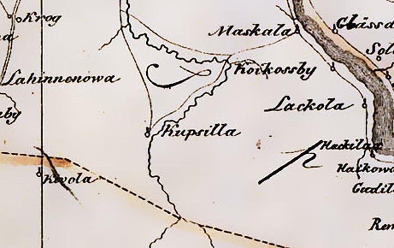 Фрагмент карты ингерманландии 1676 1827