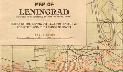 Map of Leningrad